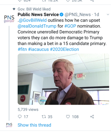 Bill Weld Tweet